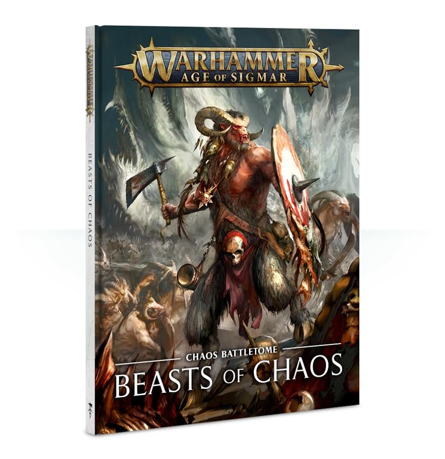 Front cover of the Beasts of Chaos battletome from Games Workshop