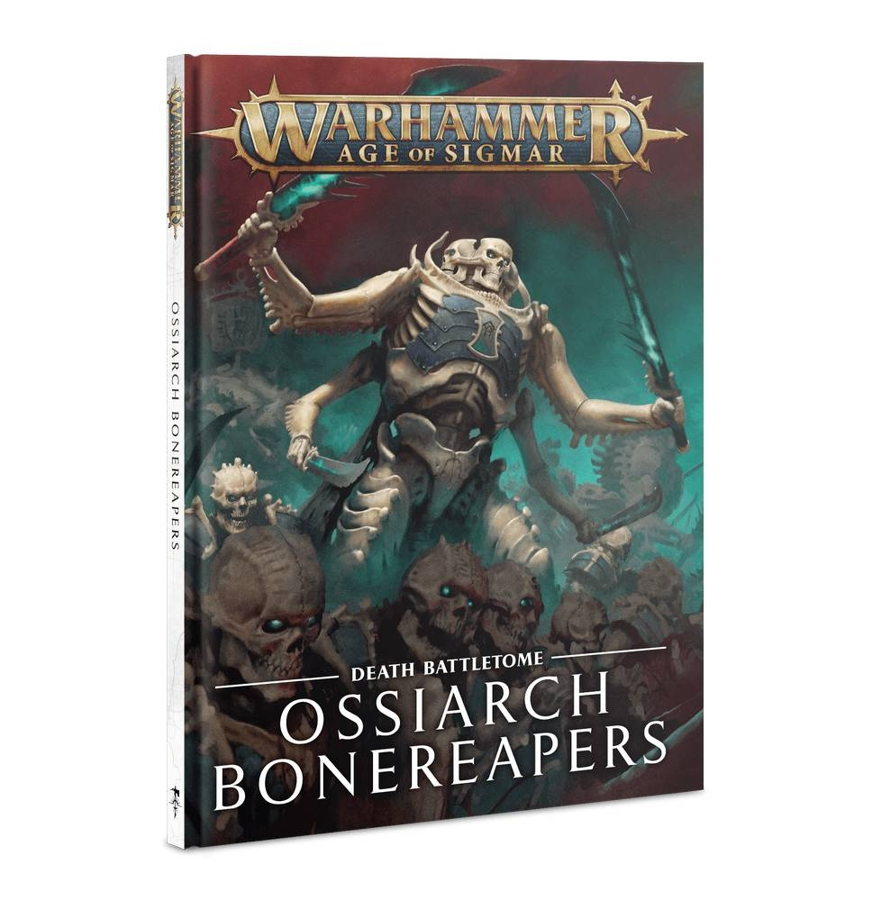 Front cover of the Ossiarch Bonereapers battletome from Games Workshop