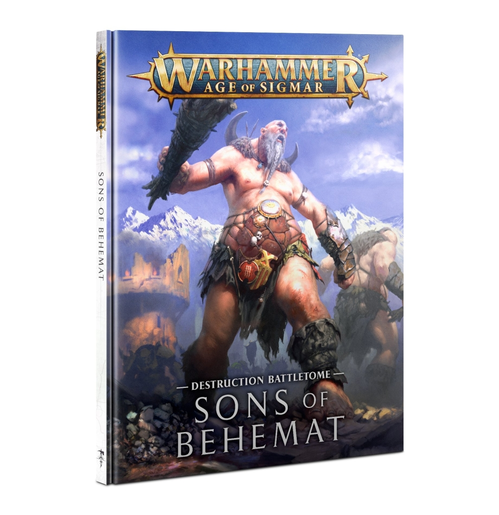 Front cover of the Sons of Behemat battletome from Games Workshop