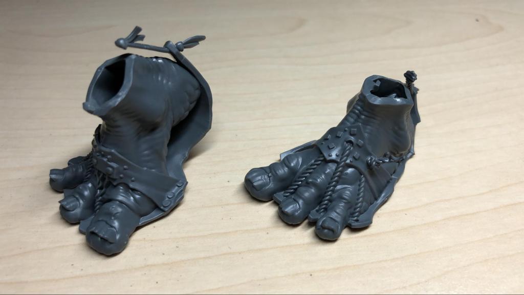 Mega gargant feet, unpainted