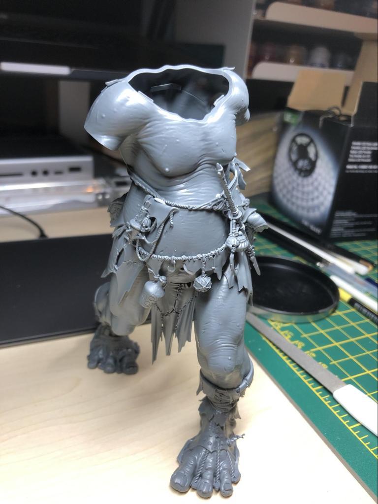 Part built Mega Gargant model from Citadel and Games Workshop