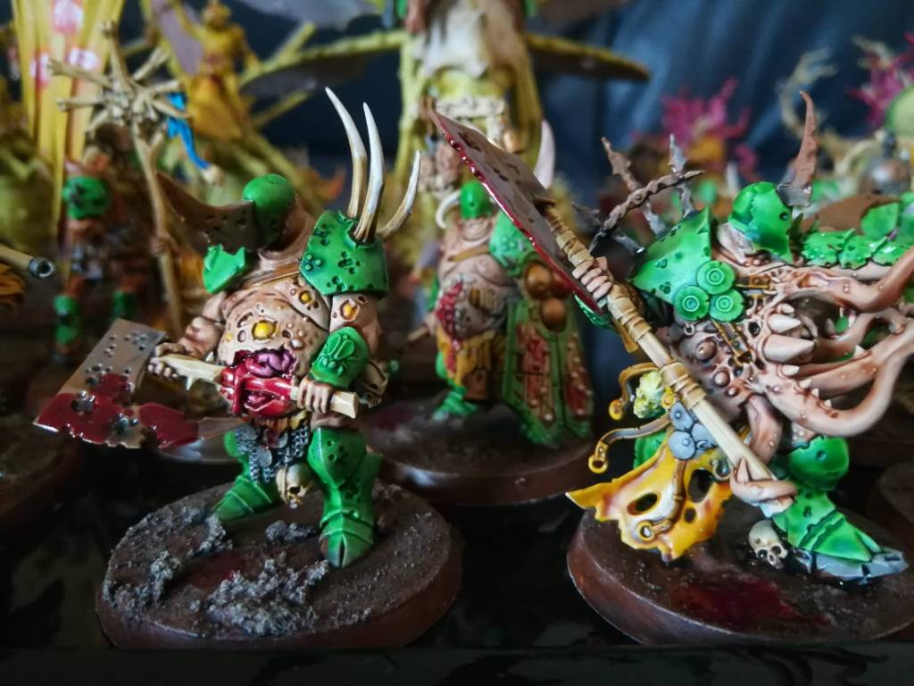 Age of Sigmar Nurgle Blightkings painted with citadel contrast paint