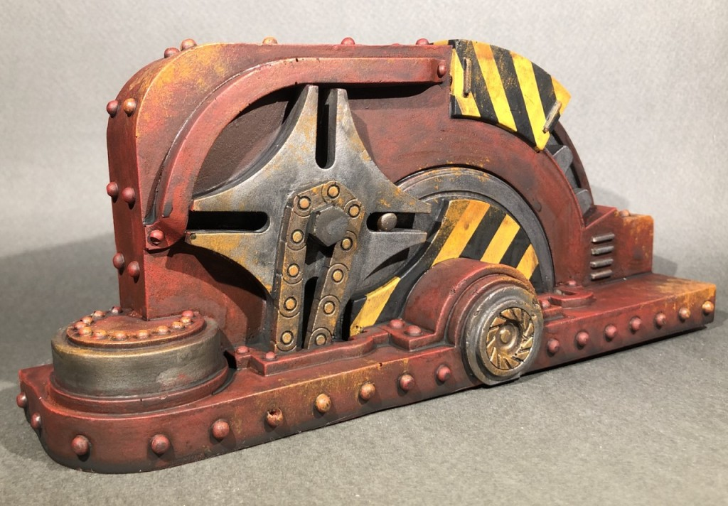 A painted 28mm scale sci-fi scenery piece