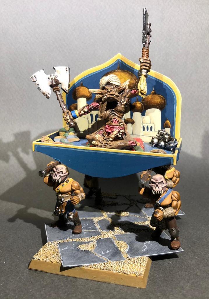 A converted desert troll sultan for Warhammer Fantasy
