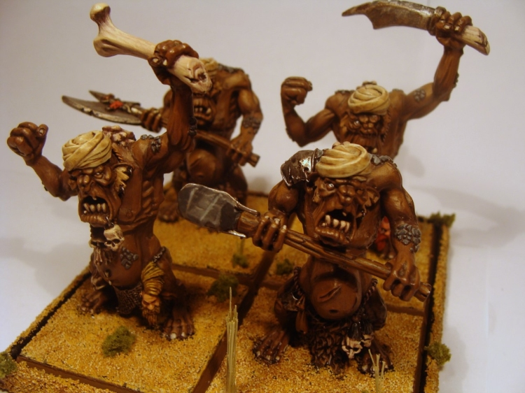 Converted Warhammer desert trolls with turbans