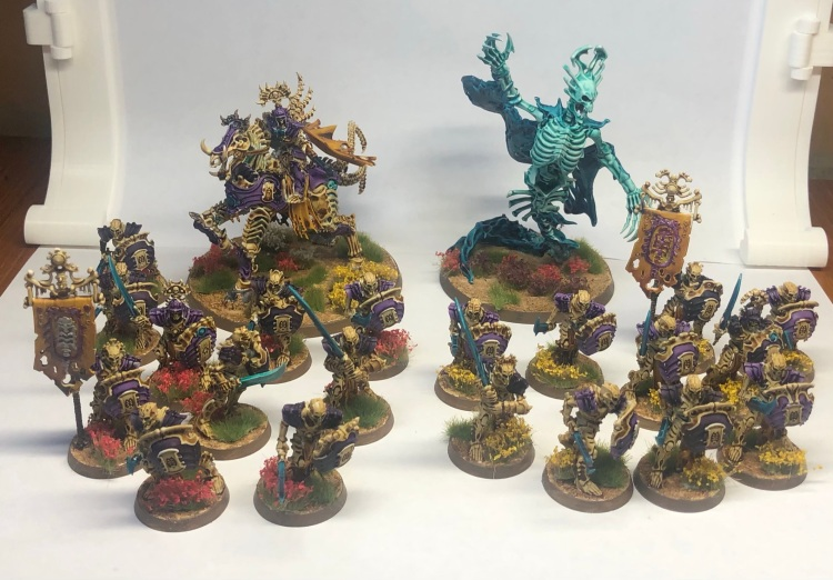 Fully painted Ossiarch Bonereapers army for Warhammer: Age of Sigmar