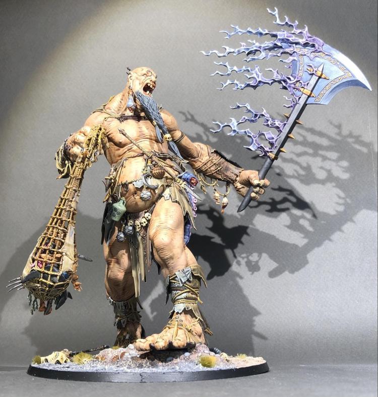 Well-painted Citadel Mega Gargant for Warhammer: Age of Sigmar