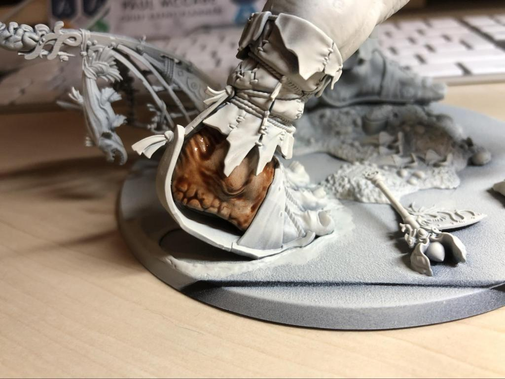 Darkoath flesh applied to a mega gargant foot