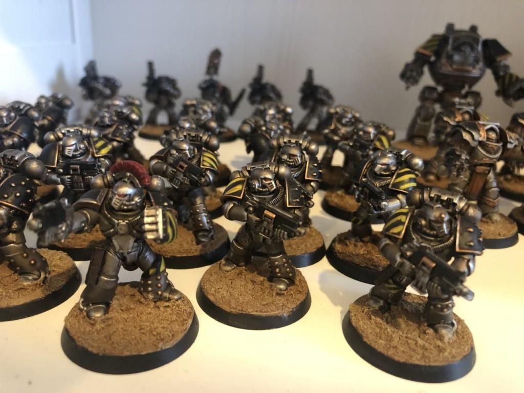 Painted Horus Heresy Iron Warriors