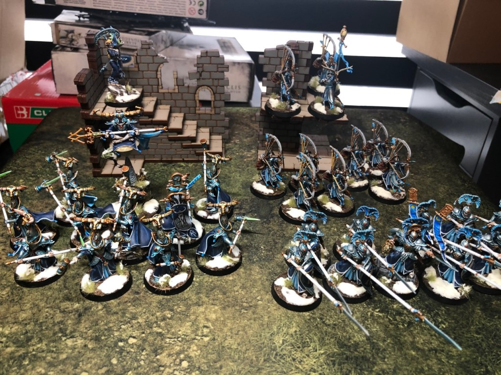750 point fully-painted Lumineth Realm Lords army