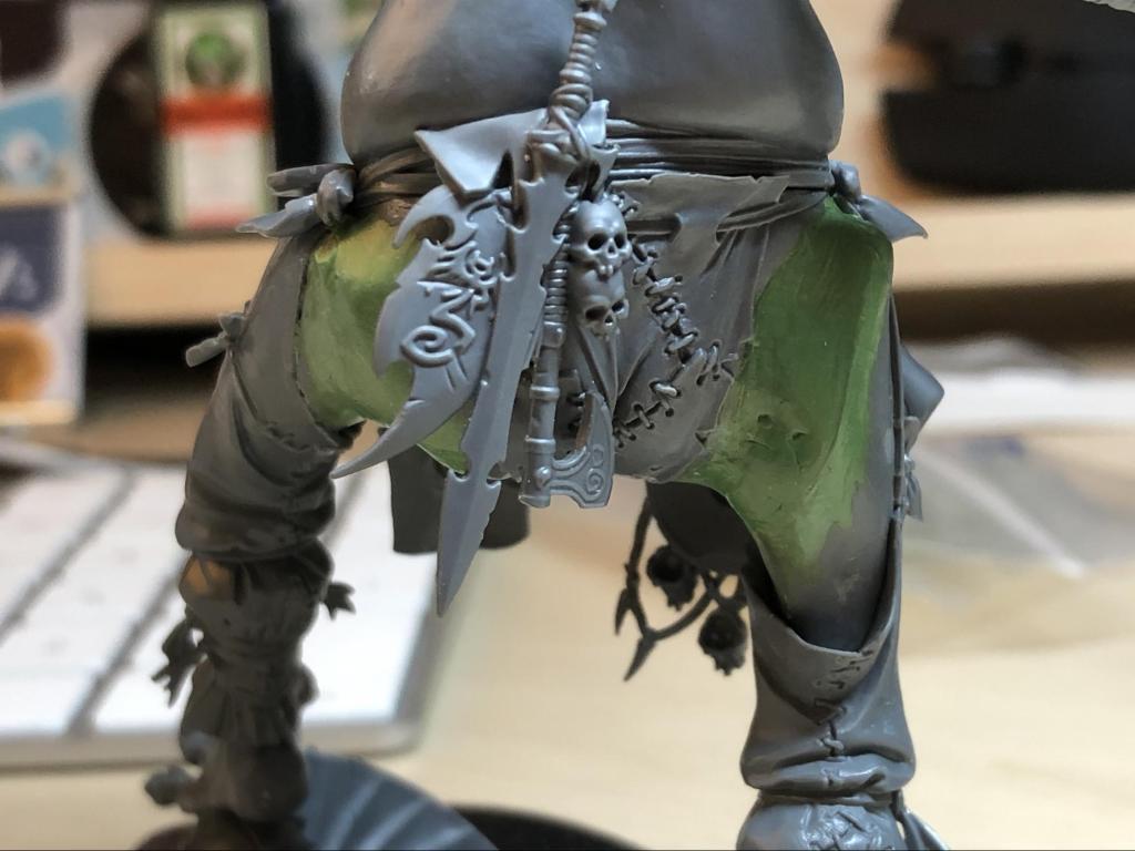 Rear of gargant with green stuff sculpting