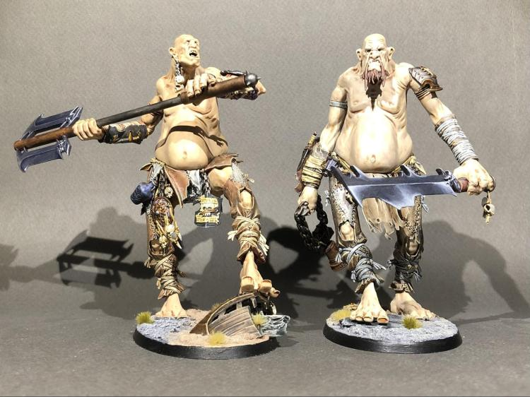 Two well painted gargants