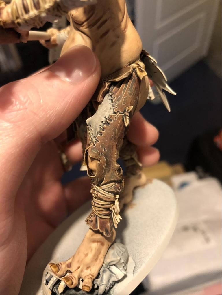 Well painted leather effect on gargant leg