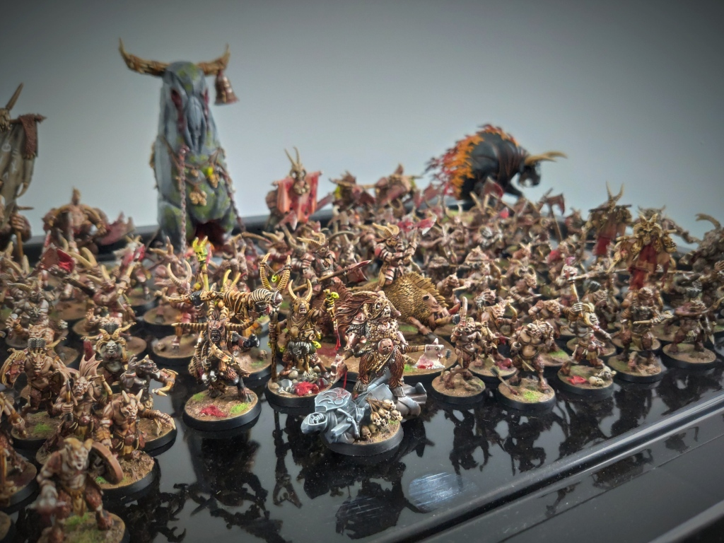 Well-painted Beasts of Chaos army