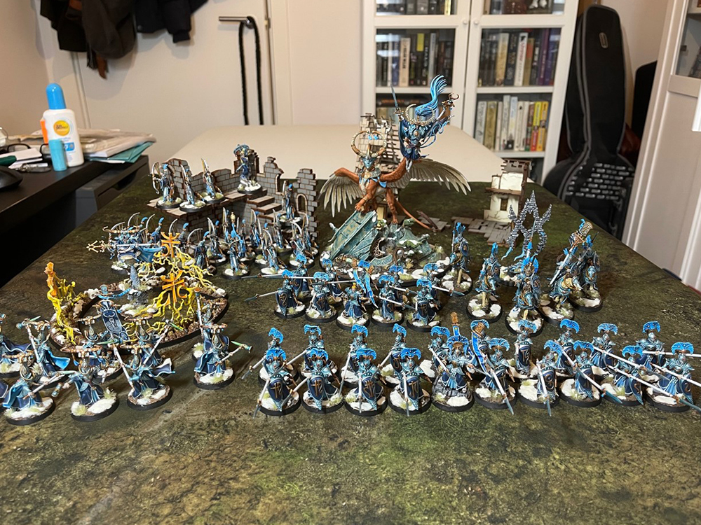 Fully painted lumineth army